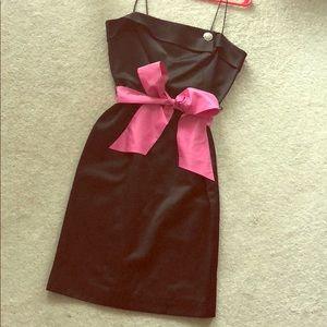 Lilly Pulitzer black satin cocktail dress
